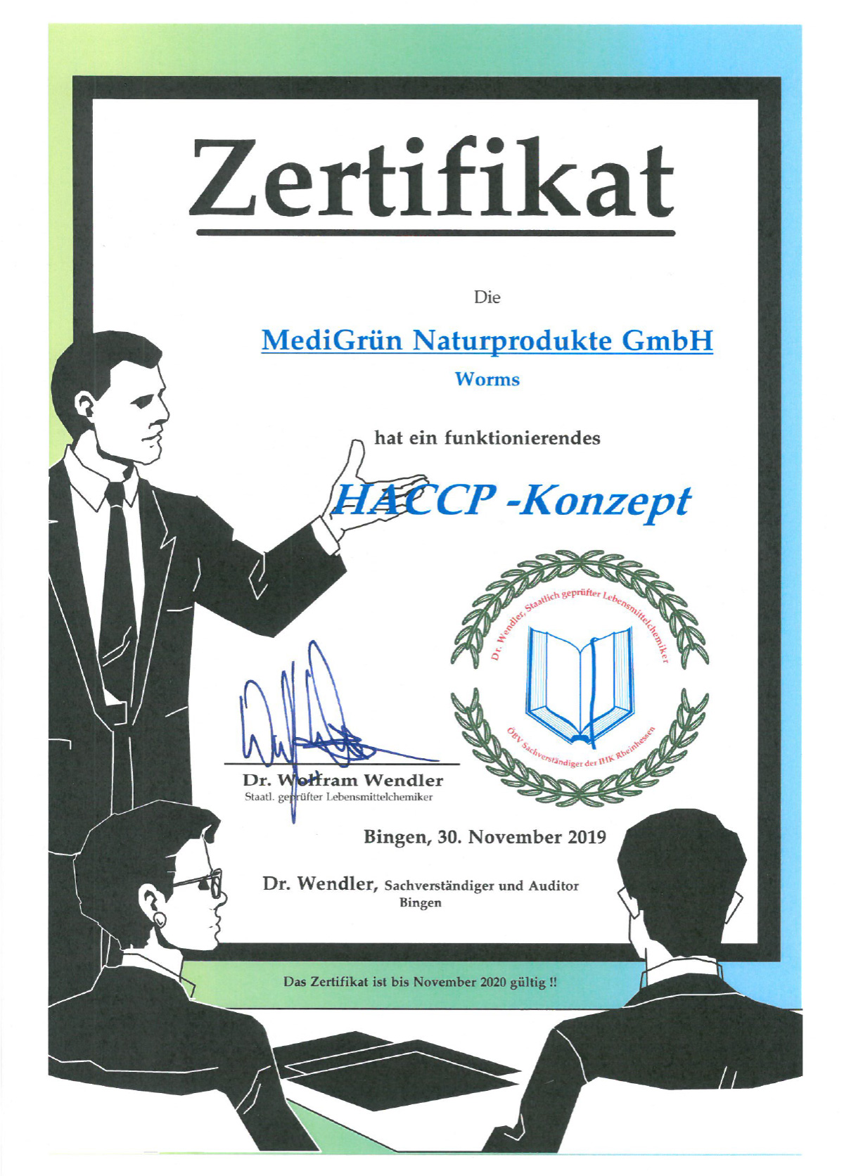 Zertifikat HACCP-Konzept